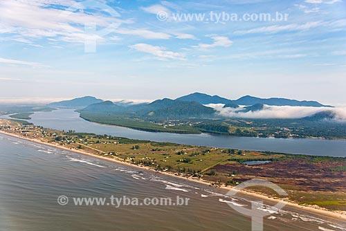 Lado Norte da Ilha Comprida entre o Mar Pequeno e a Serra de Iguape - Complexo Estuarino Lagunar de Iguape Cananéia e Paranaguá  - Ilha Comprida - São Paulo (SP) - Brasil