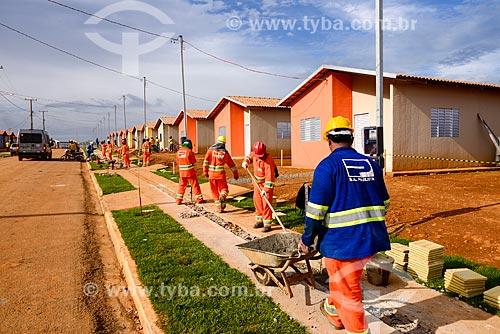 Casas construídas para moradores que serão removidos das palafitas do Igarapé Ambé decorrente da liberação da construção da Usina de Belo Monte - obra contratada pela Norte Energia   - Altamira - Pará (PA) - Brasil