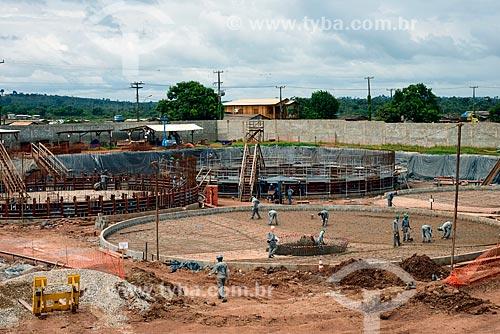 Construção da Estação de Tratamento de Esgoto - obra contratada pela Norte Energia como compensação da liberação da construção da Usina de Belo Monte  - Altamira - Pará (PA) - Brasil
