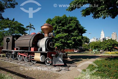 Locomotiva Maria Fumaça no Espaço Catavento Cultural e Educacional - Palácio das Indústrias - Praça Cívica Ulysses Guimarães  - São Paulo - São Paulo (SP) - Brasil