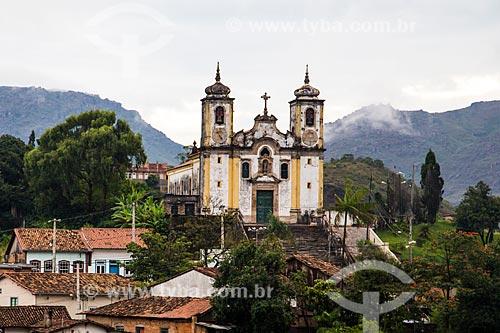 Igreja de Santa Efigênia (1723) também conhecida como Igreja de Chico Rei  - Ouro Preto - Minas Gerais (MG) - Brasil