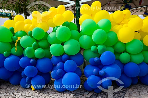 Decoração de quiosque na orla da Praia de Copacabana - Posto 6 - durante a Copa do Mundo no Brasil  - Rio de Janeiro - Rio de Janeiro (RJ) - Brasil