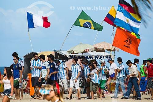 Torcedores Argentinos próximo à Fifa Fan Fest antes do jogo entre Alemanha x Argentina pela final a Copa do Mundo no Brasil  - Rio de Janeiro - Rio de Janeiro (RJ) - Brasil