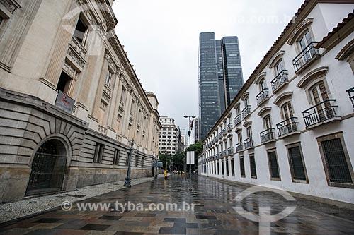 Fachada lateral Palácio Tiradentes - à esquerda - e do Paço Imperial - à direita  - Rio de Janeiro - Rio de Janeiro (RJ) - Brasil