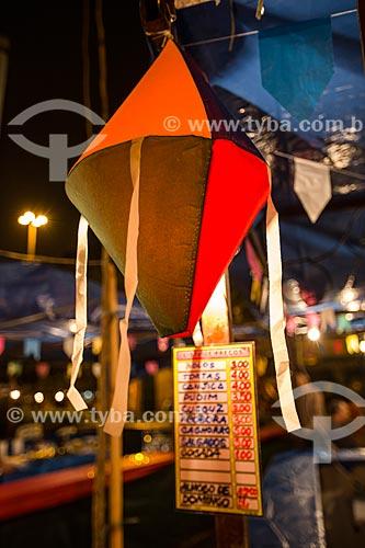 Decoração na festa junina da Praça Edmundo Rego  - Rio de Janeiro - Rio de Janeiro (RJ) - Brasil