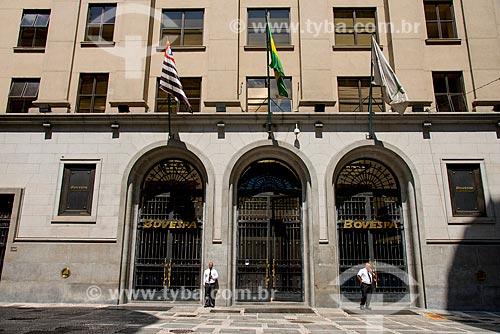 Edifício da Bolsa de Valores de São Paulo localizado na Rua XV de Novembro  - São Paulo - São Paulo (SP) - Brasil
