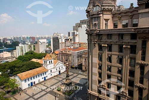 Museu Padre Anchieta no Pátio do Colégio - local da fundação da cidade de São Paulo com Monumento Glória Imortal aos Fundadores de São Paulo  - São Paulo - São Paulo (SP) - Brasil