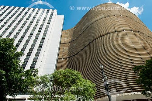 Edifício Copan - prédio residencial no centro da cidade - projetado por Oscar Niemeyer  - São Paulo - São Paulo (SP) - Brasil
