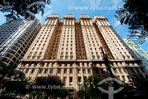 Edifício Martinelli - construído de 1924 a 1929 - primeiro arranha-céu do Brasil - patrimônio tombado pelo CONDEPHAAT  - São Paulo - São Paulo (SP) - Brasil