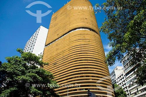 Edifício Montreal - projeto de Oscar Niemeyer - esquina da Avenida Ipiranga com a Casper Líbero  - São Paulo - São Paulo (SP) - Brasil
