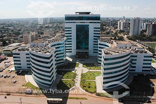 Foto aérea do Centro Político Administrativo Palácio Rio Madeira  - Porto Velho - Rondônia (RO) - Brasil