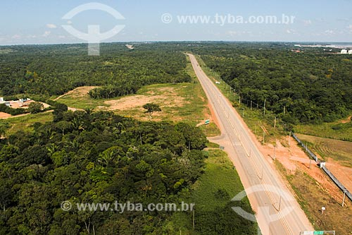 Foto aérea da Rodovia BR-364  - Porto Velho - Rondônia (RO) - Brasil