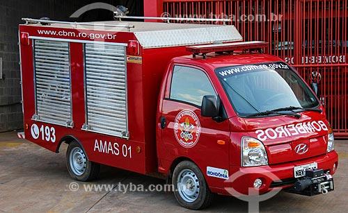 Caminhão do Corpo de Bombeiros de Porto Velho  - Porto Velho - Rondônia (RO) - Brasil