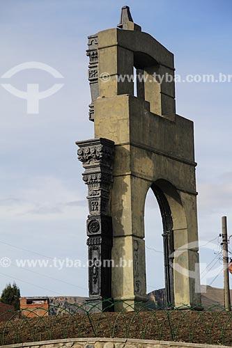 Monumento no Mirador Killi Killi (Mirante Killi Killi)  - La Paz - Departamento de La Paz - Bolívia
