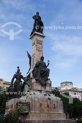 Monumento à Pedro Domingo Murillo (1759-1810) - patriota boliviano e precursor da independência do país - na Plaza Murillo (Praça Murillo)  - La Paz - Departamento de La Paz - Bolívia