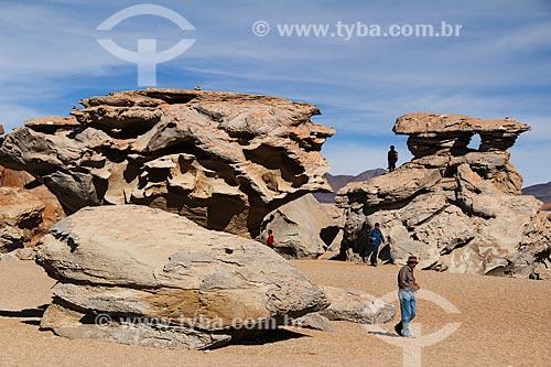 Formações rochosas no Deserto de Siloli  - Departamento Potosí - Bolívia