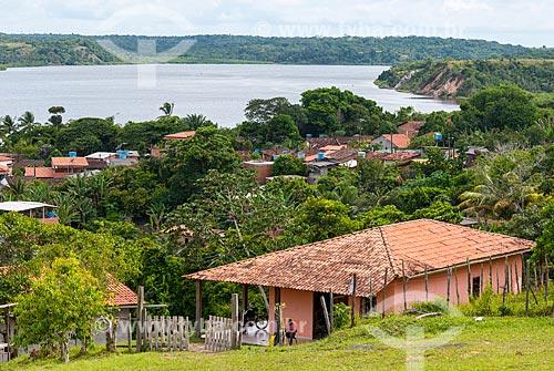 Vista geral da cidade de Maraú com o Rio Maraú ao fundo  - Maraú - Bahia (BA) - Brasil
