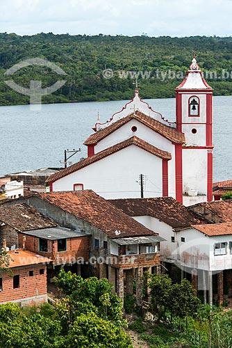Igreja de São Sebastião com o Rio Maraú ao fundo  - Maraú - Bahia (BA) - Brasil