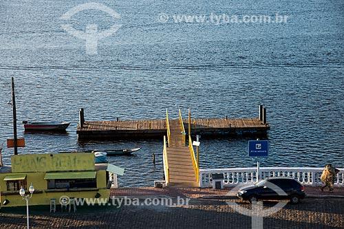 Pier do porto da cidade de Maraú  - Maraú - Bahia (BA) - Brasil