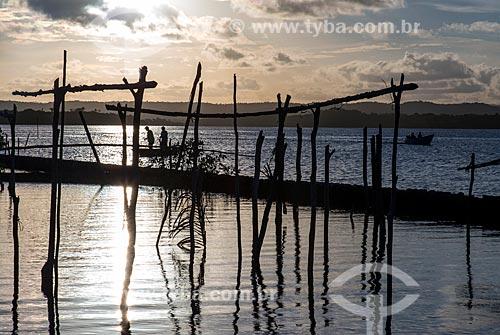 Pescadores no Rio Maraú  - Maraú - Bahia (BA) - Brasil