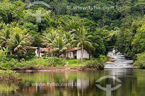 Foz de um braço do Rio Baiano  - Maraú - Bahia (BA) - Brasil