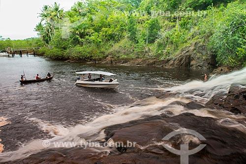 Cachoeira do Tremembé no Rio Baiano  - Maraú - Bahia (BA) - Brasil