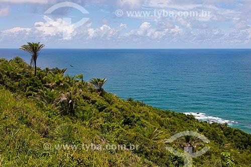 Vista para o mar na praia Pé de Serra  - Uruçuca - Bahia (BA) - Brasil