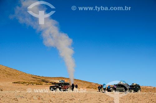 Gêiser Sol de la Mañana (Gêiser Sol da Manhã) na Reserva Nacional de Fauna Andina Eduardo Avaroa  - Departamento Potosí - Bolívia