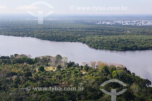 Foto aérea do Lago Cuniã em época de cheia   - Porto Velho - Rondônia (RO) - Brasil