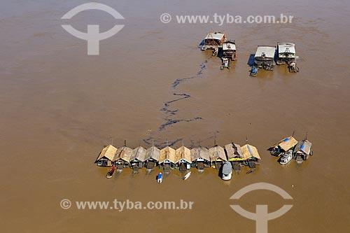 Foto aérea de balsas de mineração no Rio Madeira  - Porto Velho - Rondônia (RO) - Brasil