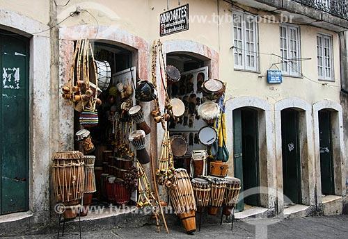 Loja de instrumentos musicais no Pelourinho  - Salvador - Bahia (BA) - Brasil