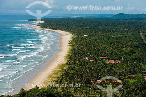 Vista das praias de Barra do Sergi e Ponta do Ramo ao fundo a partir do mirante da Serra Grande  - Uruçuca - Bahia (BA) - Brasil