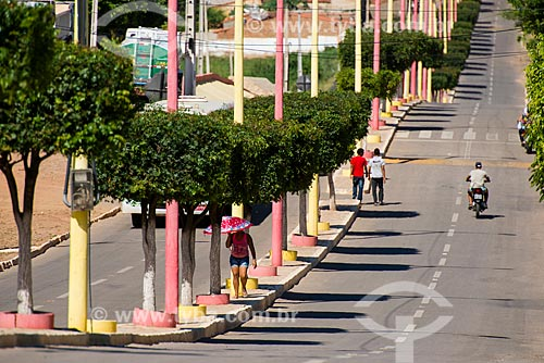 Vista da Avenida Padre Cícero  - Penaforte - Ceará (CE) - Brasil