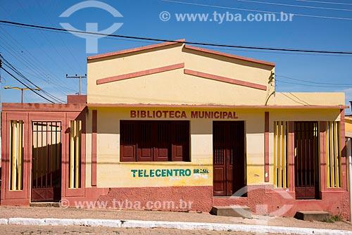 Fachada da Biblioteca Municpal e Telecentro  - Penaforte - Ceará (CE) - Brasil
