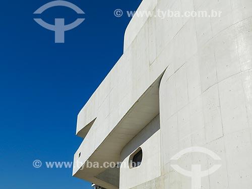 Detalhe do prédio da Fundação Iberê Camargo (2008)  - Porto Alegre - Rio Grande do Sul (RS) - Brasil