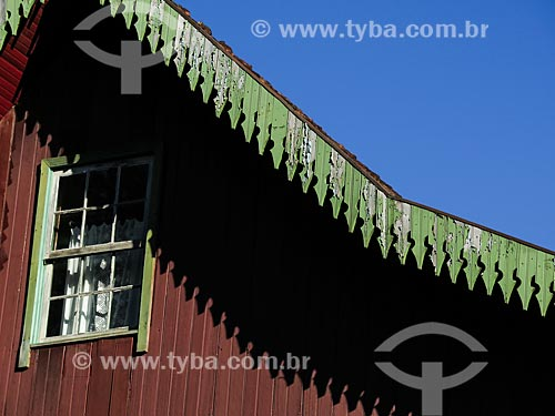 Detalhe de casa colonial  - Gramado - Rio Grande do Sul (RS) - Brasil