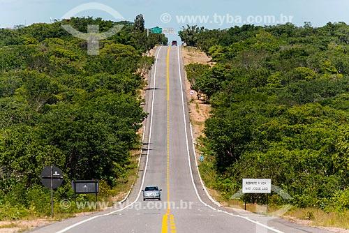 Carro na Rodovia CE-060  - Barbalha - Ceará (CE) - Brasil