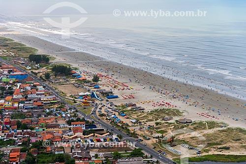 Foto aérea de Praia na Ilha Comprida  - Ilha Comprida - São Paulo (SP) - Brasil