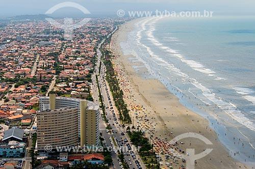 Foto aérea de Praia do Centro  - Peruíbe - São Paulo (SP) - Brasil