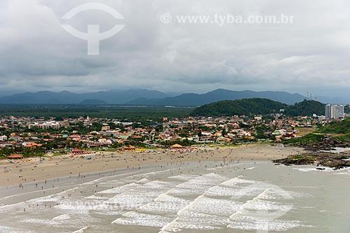 Foto aérea da Praia Cibratel  - Itanhaém - São Paulo (SP) - Brasil