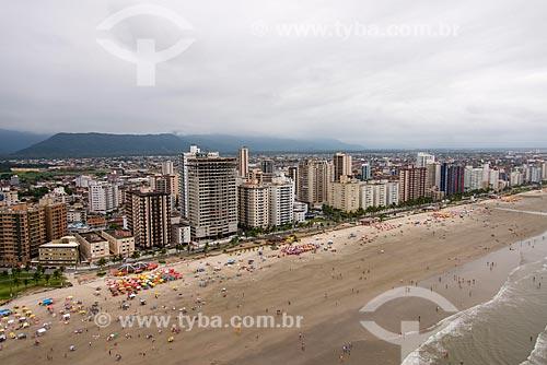 Foto aérea da Praia de Caiçara  - Praia Grande - São Paulo (SP) - Brasil