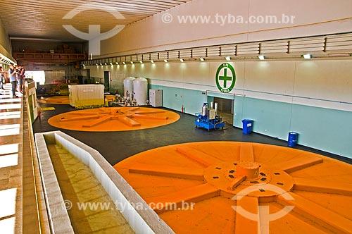 Topo dos geradores da Usina Hidrelétrica de Furnas  - São José da Barra - Minas Gerais (MG) - Brasil