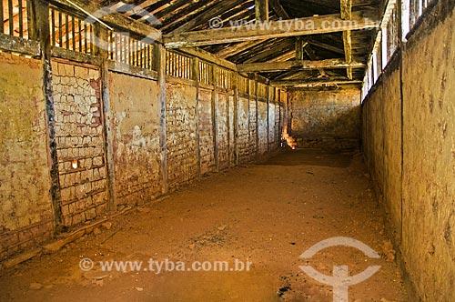 Interior da senzala da Fazenda Santa Clara - considerada uma das maiores fazenda do século XIX  - Santa Rita de Jacutinga - Minas Gerais (MG) - Brasil