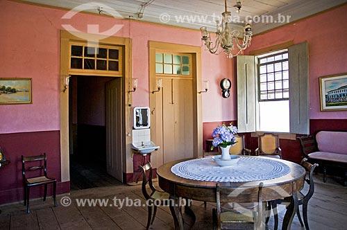 Interior da Fazenda Santa Clara - considerada uma das maiores fazenda do século XIX  - Santa Rita de Jacutinga - Minas Gerais (MG) - Brasil