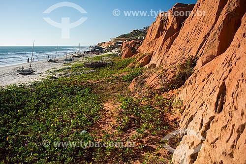 Falésias na orla da Praia de Canoa Quebrada  - Aracati - Ceará (CE) - Brasil