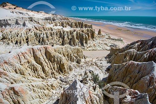 Falésias na orla da Praia de Majorlândia  - Aracati - Ceará (CE) - Brasil