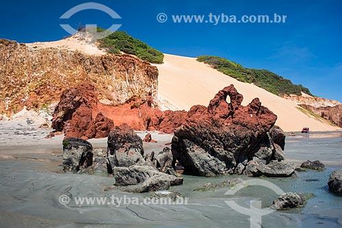 Duna na orla da Praia de Ponta Grossa  - Icapuí - Ceará (CE) - Brasil