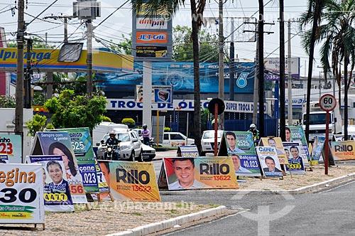 Propaganda eleitoral causando poluição visual  - São José do Rio Preto - São Paulo (SP) - Brasil