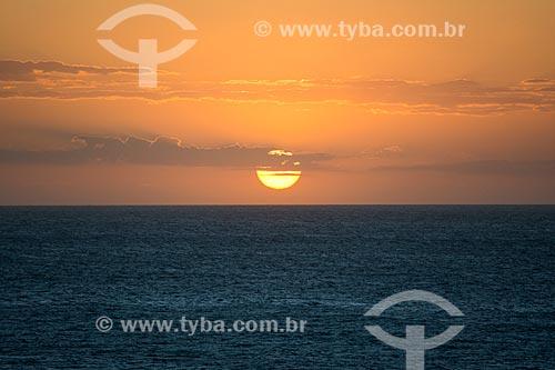 Pôr do sol no Parque Nacional de Jericoacoara a partir da Duna do Pôr do Sol  - Jijoca de Jericoacoara - Ceará (CE) - Brasil