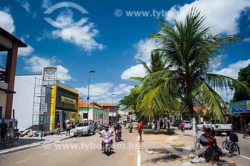 Vista da Avenida Joaquim Soeiro de Carvalho  - Barreirinhas - Maranhão (MA) - Brasil